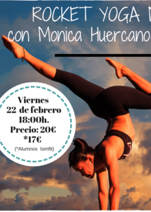 Event iomfit yoga rocket febrero 2019