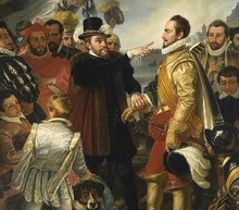 Event grid philip ii of spain berating william the silent prince of orange by cornelis kruseman rijksmuseum