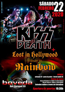 Event flyer kiss of death   lost in hollywood   sala boveda  22 02 2020