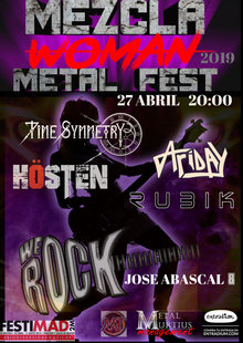 Woman MMFest WE ROCK  RUBIK-ARIDAY-Time Symetry . Hosten  20:30
