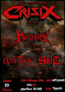 CRISIX + MURDERY + SMRT + DAWN OF EXTINCTION