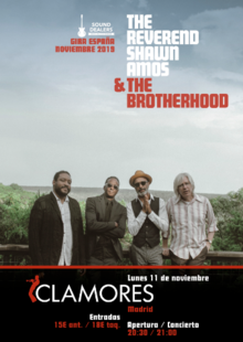 The REVEREND SHAWN AMOS & The Brotherhood en Madrid - Clamores