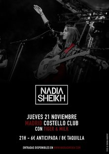 NADIA SHEIKH + Tiger and Milk en Madrid - Costello Club
