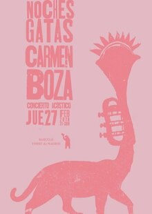Event cartel carmenboza nochesgatas 27feb2020 2