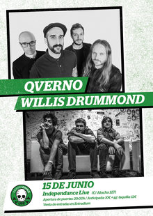 Qverno + Willis Drummond en concierto en Madrid