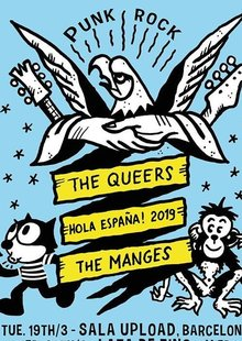 Gambeat presenta: THE QUEERS (US) + THE MANGES (IT) en Barcelona