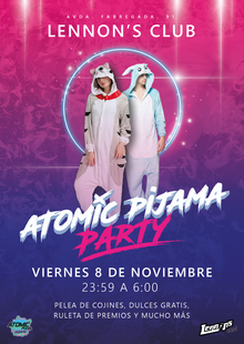 Event atomic pijama party   cartel
