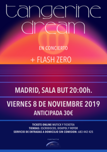 Concierto TANGERINE DREAM en Madrid - BUT (+ Flash Zero)