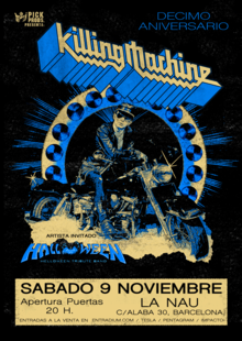 Event cartel killing machine 10 aniversario final
