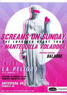 Screams On Sunday + Mantequilla Voladora + Baladre en Valencia