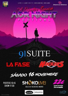 Live 4 Aor Meets Dreaming Dreams a Deluxe Aor Night 91 Suite Hackers La Fase