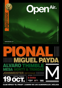 Event cartel metrica open air 19 oct