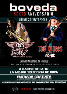 SWEET EMOTION(tributo Aerosmith) + THE WIRES (Tributo AC/DC) - VI aniversario Bóveda