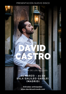 Event david castro   cartel madrid