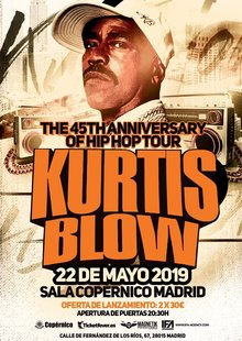 KURTIS BLOW - The 45th Anniversary of Hip hop - Madrid