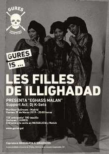 LES FILLES DE ILLIGHADAD + Dj K-Sets en Madrid | Gures is on tour