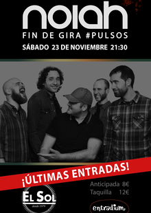 Event cartel sol fin gira pulsos ultimas