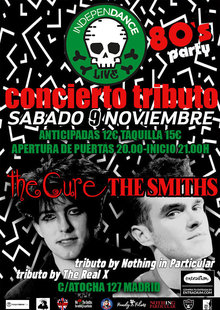 Conciertos Tributo a The Cure & The Smiths  - Fiesta 80s -