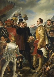 Event philip ii of spain berating william the silent prince of orange by cornelis kruseman rijksmuseum