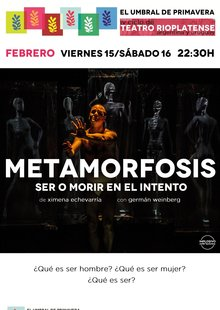 Event cartel ciclo metamorfosis