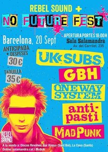 UK SUBS + GBH en NO FUTURE FEST en Barcelona