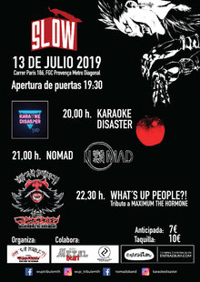 Event cartel web slow 13 7   wup   nomad   karaoke disaster