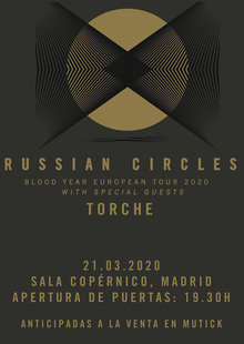 Event russian circles 2020 madrid baja