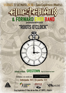 Event cartel roots o clock5