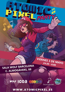 Event cartel atomic pixel party 2019 version web