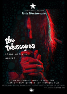 Event the telescopes 30 anviersario taste poster nuevo