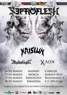 Septic Flesh · Krisiun · + guest - Madrid 2019