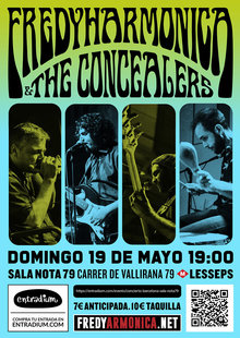 Fredy & The Concealers en Barcelona Sala Nota79