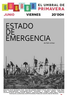Event cartel estado emergencia blanconegro