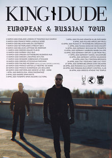 Event kingdude 2020 european tour poster copy