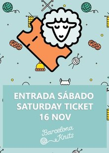 Entrada sábado | Saturday ticket: 16 Nov