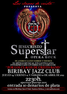 Event cartel jesucristo superstar bueno