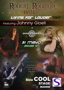 ROBERT RODRIGO BAND Feat JOHNNY GIOELI (Madrid)