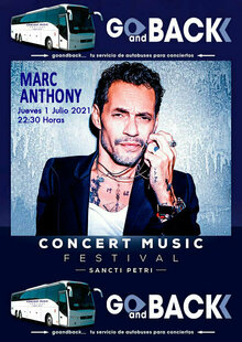 Bus MARC ANTHONY, en el Concert Music Festival