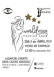 WORLDVISION FASHION SHOW en Gran Casino de Aranjuez, Madrid - Moda