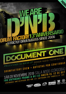 Document One @ Drumfactory 13ºAniversario - M100 (Córdoba)