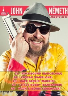 JOHN NEMETH (USA) en Madrid - Blues en Café Berlin