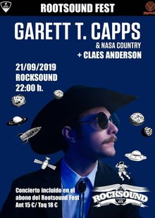 Garrett T. Capps & Nasa Country (Rootsound Fest Barcelona)