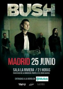 Event entradas bush madrid