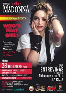 WHO'S THAT GIRL? - TRIBUTO A MADONNA en Aldeanueva