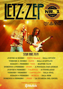 LETZ ZEP - Tributo LED ZEPPELIN en Pinto - Madrid