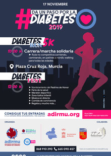 Event da un paso por la diabetes 2019   cartel