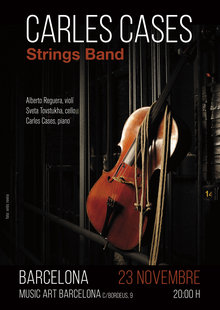 Event cartell strings music art bcn