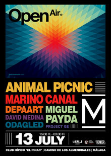 Event cartel metrica open air 13 julio 2