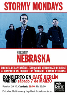 STORMY MONDAYS en Madrid - Café Berlin