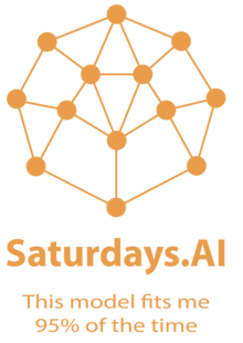 Event saturdaysai logo tagline